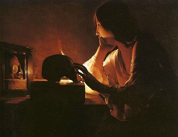 an analysis of the painting magdalen with the smoking flame by georges de la tour Georges de la tour, the penitent magdalen, c 1640 published in many paintings with the presence of candlelight like the penitent magdalen, de la tour captured the contrast between light and dark very in that series, magdalene with the smoking flame is probably my favorite painting.
